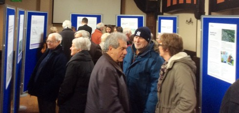 Some of the Llandaf residents who came to the Llandaff Institute to learn more and voice their opinions.